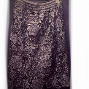Dresses & Skirts - FULL LACE BLACK LINED LADIES SKIRT FORMAL STYLE